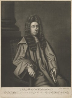 Sir John Trenchard, by James Watson, after  Unknown artist - NPG D39287