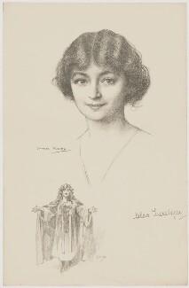 Hilda Trevelyan (Hilda Marie Antoinette Anna Tucker), after Charles Buchel (Karl August Büchel), and after  John Hassall - NPG D39288