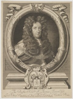 Thomas Trevor, 1st Baron Trevor, by Robert White, printed and sold by  John King, after  Thomas Murray - NPG D39289