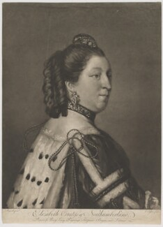 Elizabeth Percy (née Seymour), Duchess of Northumberland, by Edward Fisher, after  Sir Joshua Reynolds - NPG D39321