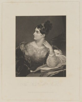 Caroline Elizabeth Sarah Norton (née Sheridan, later Lady Stirling-Maxwell), by William Overend Geller, published by  Ackermann & Co, after  John Hayter - NPG D39324