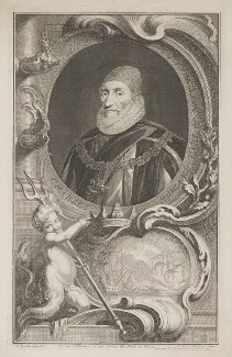 Charles Howard, 1st Earl of Nottingham, by Jacobus Houbraken, published by  John & Paul Knapton, after  Daniel Mytens, published 1739 - NPG D39327 - © National Portrait Gallery, London