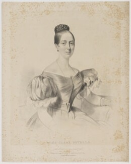 Clara Novello, by William Sharp, printed by  Day & Haghe, published by  Joseph Dickinson, and published by  Joseph Alfred Novello, after  Firmin Salabert, published April 1836 - NPG D39333 - © National Portrait Gallery, London