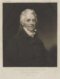 Sir Charles Oakeley, 1st Bt, by Samuel William Reynolds, after  Thomas Barber, (1816) - NPG D39341 - © National Portrait Gallery, London