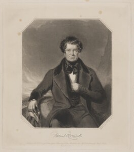 Daniel O'Connell, by Samuel William Reynolds Jr, printed by  Brooker & Harrison, published by  Thomas Agnew, and published by  Ackermann & Co, after  Charles Allen Duval - NPG D39346