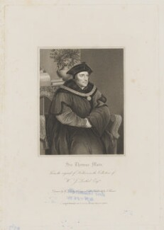 Sir Thomas More, by James Thomson (Thompson), published by  Harding, Mavor & Lepard, after  William Derby, after  Hans Holbein the Younger - NPG D39005