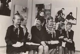 Ida Kar with schoolgirls at her exhibition in Moscow, by B. Baldin - NPG x134208