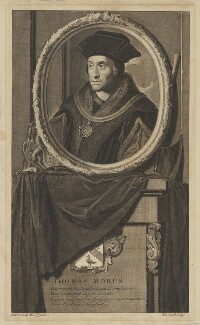 Sir Thomas More, by Pieter Stevens van Gunst, after  Adriaen van der Werff - NPG D39007