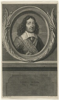 George Monck, 1st Duke of Albemarle, by Benoit Audran the Elder, after  Adriaen van der Werff - NPG D39422
