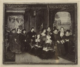 Sir Thomas More, his father, his household and his descendants, after Rowland Lockey, after  Hans Holbein the Younger, (1593-1594) - NPG D39014 - © National Portrait Gallery, London