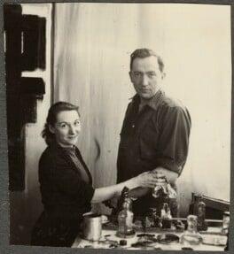 Colette Llaurens; Pierre Soulages, by Ida Kar - NPG Ax134248
