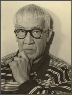 Tsugouharu Foujita, by Ida Kar - NPG Ax134306