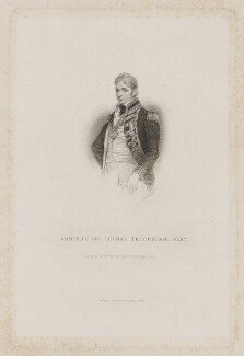 Sir Thomas Troubridge, 1st Bt, by William Greatbach, published by  Richard Bentley, after  Sir William Beechey - NPG D39413