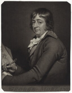 George Morland, by William Ward, after  Robert Muller - NPG D39033