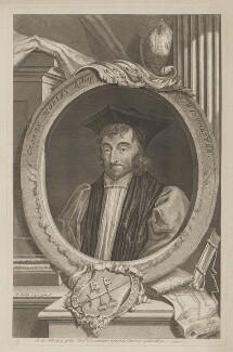 George Morley, by George Vertue, after  Sir Peter Lely - NPG D39040