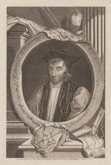George Morley, by George Vertue, after  Sir Peter Lely - NPG D39041