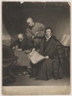 Li Shigong, Chen Laoyi and Robert Morrison, by Charles Turner, after  George Chinnery - NPG D39052