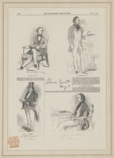 William Collins; Sir Francis Grant; J.M.W. Turner; Daniel Maclise, published by Illustrated London News, after  John George Landseer, after  John George Landseer, after  Charles Martin, after  Unknown artist - NPG D39446