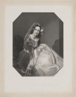 Caroline Augusta Edgcumbe (née Feilding), Countess of Mount Edgcumbe, by J. Artlett, published by  Joseph Hogarth, after  Frederick A.C. Tilt - NPG D39074