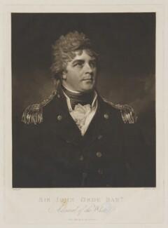 Sir John Orde, Bt, by Samuel William Reynolds, after  George Romney - NPG D39359