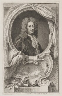 Edward Russell, Earl of Orford, by Jacobus Houbraken, published by  John & Paul Knapton, after  Sir Godfrey Kneller, Bt - NPG D39364