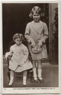 Princess Margaret; Queen Elizabeth II, by Unknown photographer, 1937 - NPG  - © National Portrait Gallery, London