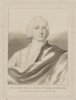 Robert Walpole, 2nd Earl of Orford, by William Camden Edwards, published by  Charles Muskett, after  Rosalba Carriera - NPG D39368