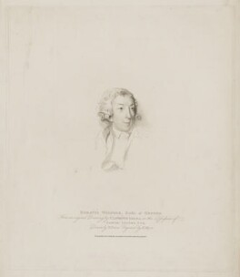Horace Walpole, by Henry Meyer, published by  T. Cadell & W. Davies, after  William Evans, after  Sir Thomas Lawrence - NPG D39369