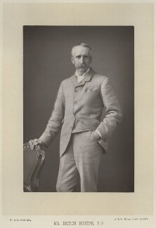 Briton Riviere, by W. & D. Downey, published by  Cassell & Company, Ltd, published 1891 - NPG x22043 - © National Portrait Gallery, London