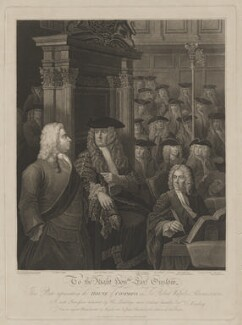 House of Commons, 1730, by Anthony Fogg, published by  Edward Harding, after  William Hogarth, and after  Sir James Thornhill, published 1 November 1803 - NPG D39372 - © National Portrait Gallery, London