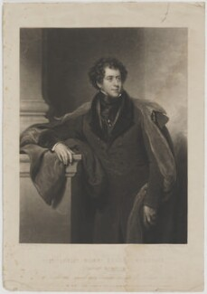Constantine Henry Phipps, 1st Marquess of Normanby when Earl of Mulgrave, by Charles Turner, published by  Colnaghi & Co, after  Henry Perronet Briggs - NPG D39088