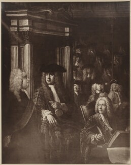 House of Commons, 1730, after William Hogarth, and after  Sir James Thornhill - NPG D39373