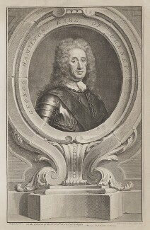 George Hamilton, 1st Earl of Orkney, by Jacobus Houbraken, after  Martin Maingaud - NPG D39376