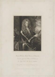 James Butler, 1st Duke of Ormonde, by Edward Scriven, after  Sir Godfrey Kneller, Bt - NPG D39381