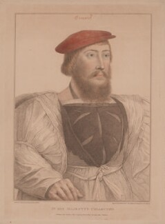 James Butler, 9th Earl of Ormond and Ossory, by Francesco Bartolozzi, published by  John Chamberlaine, after  Hans Holbein the Younger - NPG D39383