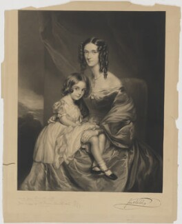 Jane Benn-Walsh (née Grey), Lady Ormathwaite and child, by Richard Josey, after  Sir Francis Grant - NPG D39384