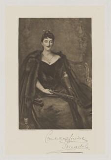 Candida Louise (née Bartolucci), Marchioness of Tweeddale, by Frederick John Jenkins, after  Sir John Everett Millais, 1st Bt - NPG D39471