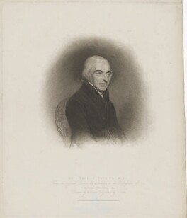 Thomas Twining, by James Godby, published by  T. Cadell & W. Davies, after  William Evans, after  John James Halls - NPG D39474