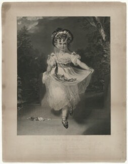 Louisa Georgiana Augusta Anne Boyce (née Murray) ('The Child with Flowers'), by and published for George Thomas Doo, printed by  McQueen (Macqueen), published by  Sir Francis Graham Moon, 1st Bt, sold by  Hodgson, Boys & Graves, after  Sir Thomas Lawrence - NPG D39125