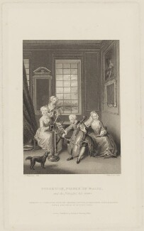 'Frederick, Prince of Wales, and the Princesses, his sisters', by John Cook, published by  Richard Bentley, after  Thomas Charles Wageman, after  Philip Mercier - NPG D39141