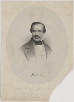 Sir James Outram, 1st Bt, by Charles Baugniet, printed by  M & N Hanhart, published by  Ernest Gambart & Co, and published by  Paul and Dominic Colnaghi & Co, published 15 June 1858 - NPG D39395 - © National Portrait Gallery, London