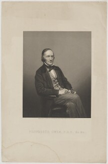 Sir Richard Owen, by Daniel John Pound, after  John & Charles Watkins - NPG D39400