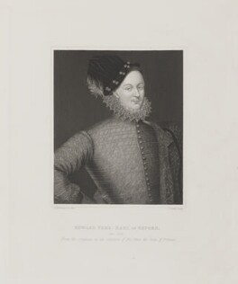 Edward de Vere, 17th Earl of Oxford, by Joseph Brown, after  George Perfect Harding - NPG D39484