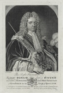 Robert Harley, 1st Earl of Oxford, by George Vertue, after  Sir Godfrey Kneller, Bt - NPG D39485