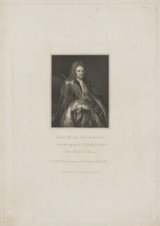 Robert Harley, 1st Earl of Oxford, by W.T. Mote, published by  Harding & Lepard, after  William Derby, after  Sir Godfrey Kneller, Bt, published 1 November 1832 (1714) - NPG D39486 - © National Portrait Gallery, London