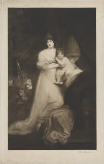 Jane Elizabeth Harley (née Scott), Countess of Oxford; Jane Elizabeth Bickersteth (née Harley), Lady Langdale, by William Henderson, after  John Hoppner - NPG D39490