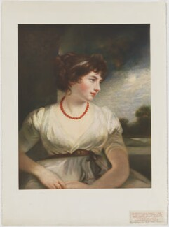 Jane Elizabeth (née Scott), Countess of Oxford, published by The Medici Society Ltd, after  John Hoppner, 1909 - NPG D39491 - © National Portrait Gallery, London