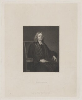 John Tillotson, by J.T. Wedgwood, published by  William Johnstone White, after  Mary Beale - NPG D39611