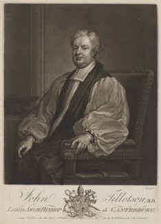 John Tillotson, by John Faber Jr, published by  Robert Wilkinson, after  Sir Godfrey Kneller, Bt - NPG D39612