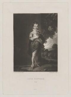 Jacob Pleydell-Bouverie, 2nd Earl of Radnor, by Samuel William Reynolds, published by  Henry Graves & Co, after  Sir Joshua Reynolds - NPG D39161